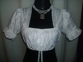 Folkloristische blouse wit Gemengd weefsel