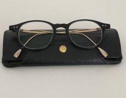 Glasses black-gold-colored acetate