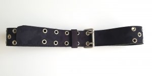 H&M Divided Studded Belt dark blue leather