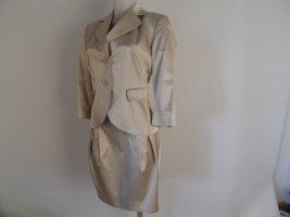 Divina Klassischer Blazer silver-colored cotton