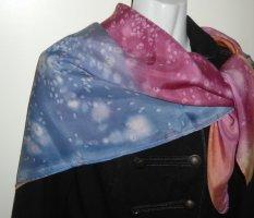 DIY XXL Vintage Schal Galaxy Tuch h m Batik mehrfarbig blau orange rose NEU Boho