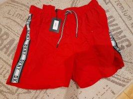 DKNY Bañador de hombre rojo oscuro