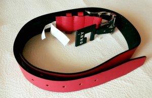 DKNY Leder Damen Gürtel Rot Grösse L