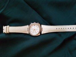 DKNY Horloge met lederen riempje wit