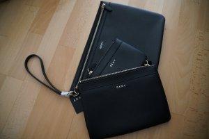 DKNY New York Triple Vela Pouch Kosmetiktäschchen Clutch Handtasche schwarz