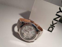 DKNY Uhr Chronograph Perlmutt Silber