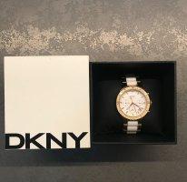 DKNY Reloj analógico blanco-color oro