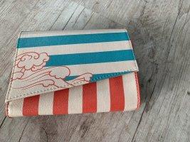 Dogo Handtasche/Clutch - Orange/Petrol - Stripes!