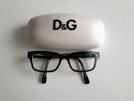 Dolce & Cabbana D&G Nerd Brille Sehbrille Brillenfassung Retro Schwarz - Klar