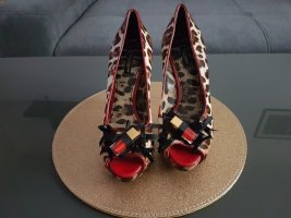 Dolce & Gabbana Peep Toe Pumps multicolored