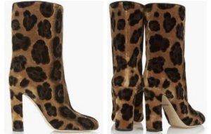 Dolce & Gabbana Bottines à enfiler noir-bronze fourrure