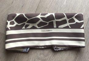 Dolce & Gabbana Fazzoletto da collo crema-marrone