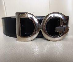Dolce & Gabbana Lederen riem zwart-zilver