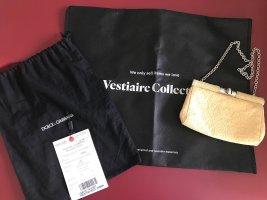 Dolce & Gabbana Clutch Tasche gelb creme gold silber