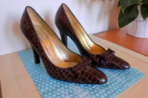 DOLCE & GABBANA Croc Heels, Gr. 39.5