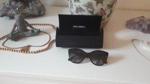 Dolce & Gabbana Occhiale da sole ovale nero-oro