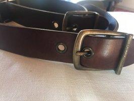 Dolce & Gabbana Cintura di pelle marrone scuro Pelle