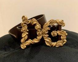 Dolce & Gabbana Ceinture en cuir brun foncé
