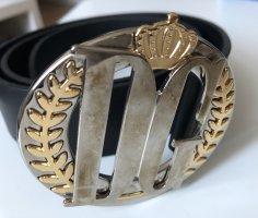 Dolce & Gabbana Cinturón de cuero negro