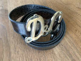 Dolce & Gabbana Leather Belt black brown-dark brown