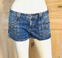 Dolce & Gabbana Jeansowe szorty stalowy niebieski Bawełna