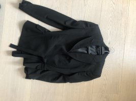 Dolce & Gabbana Blazer de esmoquin negro tejido mezclado