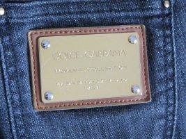 Dolce & Gabbana Jeans cigarette bleu foncé coton