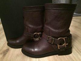 Dolce & Gabbana Bottes d'hiver brun foncé cuir