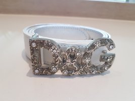 Dolce & Gabbana Leather Belt white-silver-colored leather