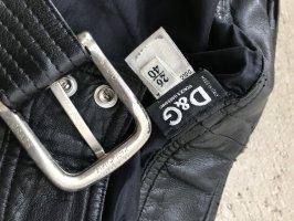 Dolce & Gabbana Skórzane spodnie czarny