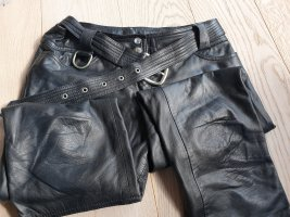 Dolce & Gabbana Leather Trousers black