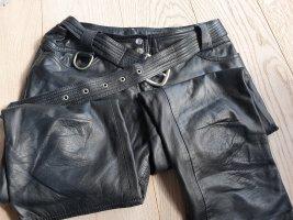 Dolce & Gabbana Pantalone in pelle nero