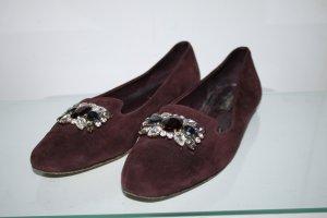Dolce & Gabbana Loafers Slipper Mokassins Velourleder Leder Komplett 40 wie neu