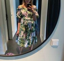 Dolce & Gabbana Midi Dress purple-forest green