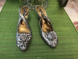 Dolce & Gabbana Slingback Pumps silver-colored-black