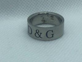 Dolce & Gabbana Bague incrustée de pierres argenté