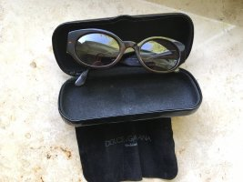 Dolce & Gabbana Hoekige zonnebril zwart bruin