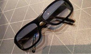 Dolce & Gabbana Occhiale da sole spigoloso nero-blu scuro