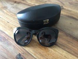 Dolce & Gabbana Gafas de sol ovaladas negro-color plata