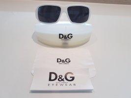 Dolce & Gabbana Lunettes de soleil angulaires blanc