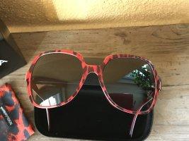 Dolce & Gabbana Sonnenbrille rot schwarz -wie neu- Naomi Campell 2011