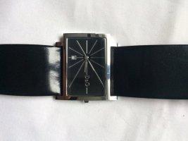 Dolce & Gabbana Montre avec bracelet en cuir argenté-noir métal