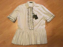 Dolce & Gabbana Babydoll-jurk wit-zwart Katoen