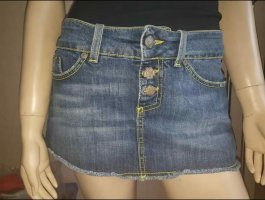 Dondup Denim Skirt blue-yellow