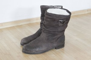 Donna Carolina Fur Boots dark brown leather