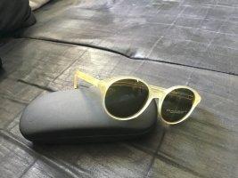 Donna Karan Ronde zonnebril room-donkergroen