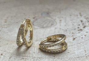 Doppel creole Silber 925 vergoldet