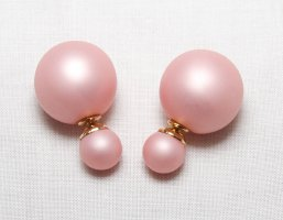 doppel perlen Ohrring Ohrstecker