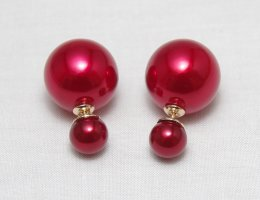 Pearl Earring carmine synthetic material