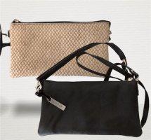 Depeche Crossbody bag black-beige leather